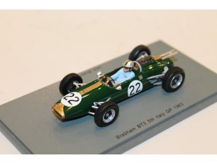 BRABHAM BT3 5TH ITALY GP 1963 SPARK 1/43°