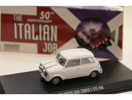 "AUSTIN MINI COOPER S 1275 MKI BLANC ""L'OR SE BARRE"" 1967 GREENLIGHT 1/43°"