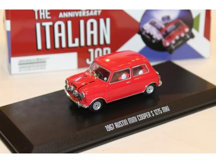 "AUSTIN MINI COOPER S 1275 MKI ROUGE ""L'OR SE BARRE"" 1967 GREENLIGHT 1/43°"