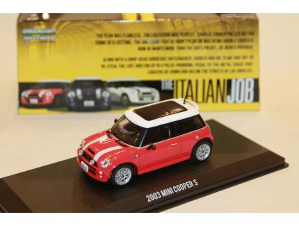 "MINI COOPER ROUGE 2003 ""BRAQUAGE A L'ITALIENNE"" GREENLIGHT 1/43°"