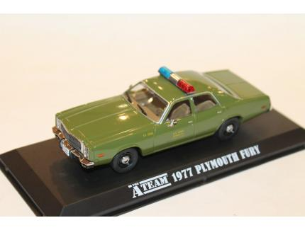 """PLYMOUTH FURY """"POLICE"""" """"L'AGENCE TOUS RISQUES"""" 1977 GREENLIGHT 1/43°"""