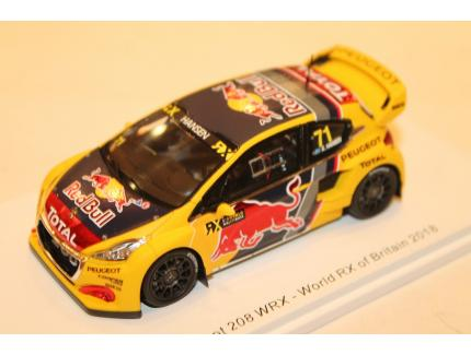 PEUGEOT 208 N°71 WRX-WORLD RX OF BRITAIN 2018 SPARK 1/43°