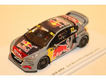 PEUGEOT 208 WRX N°21 3RD WORLD RX OF BELGIAN 2018 SPARK 1/43°