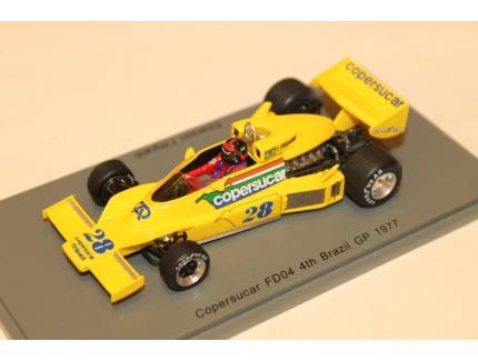 COPERSUCAR FD04 N°28 4TH BRAZIL GP 1977 SPARK 1/43°