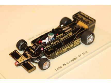 LOTUS 79 N°55 CANADIAN GP 1978 SPARK 1/43°