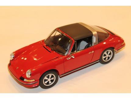PORSCHE 911 S TARGA ROUGE 1973 SCHUCO 1/18°