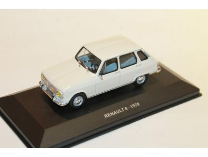 RENAULT 6 BLANCHE 1970 SOLIDO 1/43°