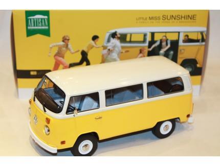 "VW COMBI T2 BUS ""LITTLE MISS SUNSHINE"" GREENLIGHT 1/18°"