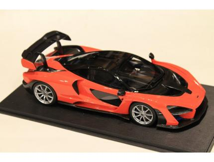 McLAREN SENNA 2019 ORANGE TOP SPEED 1/18°