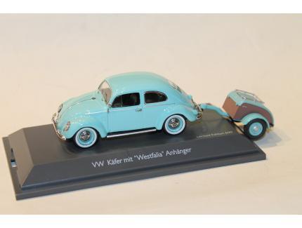 VW COX + REMORQUE WESTFALIA 1962 SCHUCO 1/43
