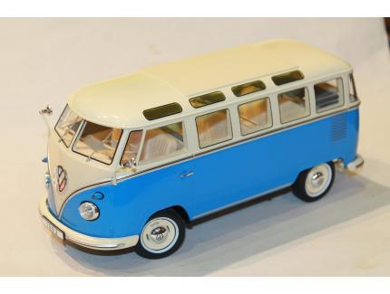 VW COMBI T1 MINIBUS BLEU 1961 KKSCALE 1/18°