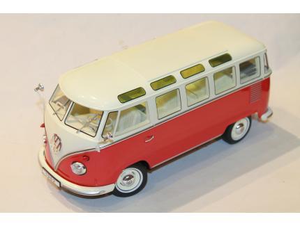VW COMBI T1 MINIBUS ROUGE 1961 KKSCALE 1/18°