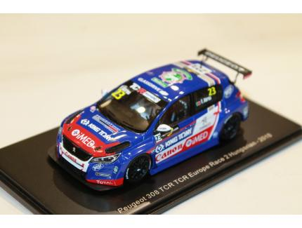 PEUGEOT 308 TCR EUROPE RACE 2 HUNGARIAN 2018 SPARK 1/43°