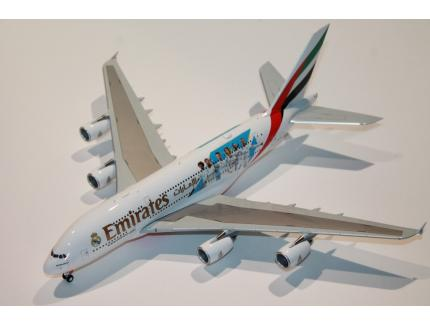 AIRBUS A380-800 EMIRATES REAL MADRID HERPA 1/200°