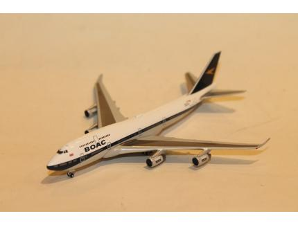 BOEING 747-400 BOAC HERITAGE BRITISH AIRWAYS HERPA 1/500°