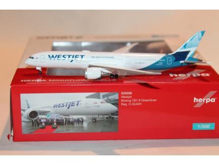 BOEING 787-9 DREAMLINER WESTJET HERPA 1/500