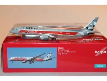 BOEING 787-9 DREAMLINER ETIHAD HERPA 1/500