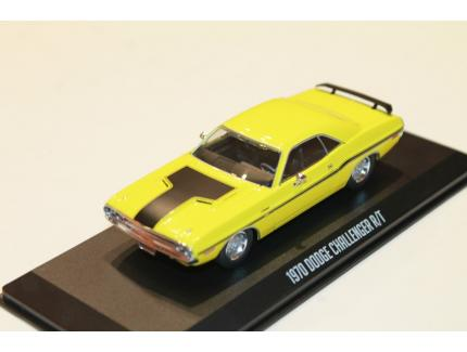 DODGE CHALLENGER R/T JAUNE 1970 GREENLIGHT 1/43°