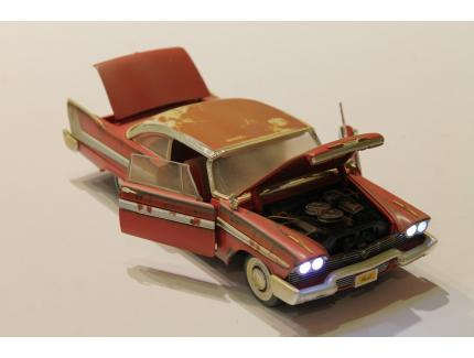 PLYMOUTH FURY 58 CHRISTINE AUTO WORLD 1/18°