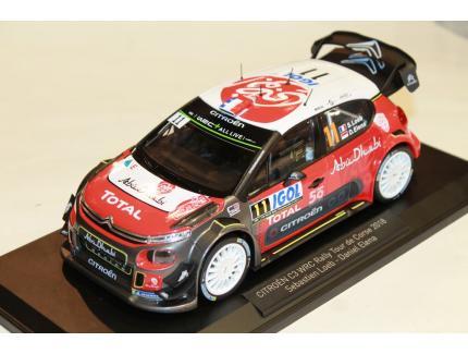 CITROEN C3 WRC SEBASTIEN LOEB RALLY TOUR DE CORSE 2018 NOREV 1/18°