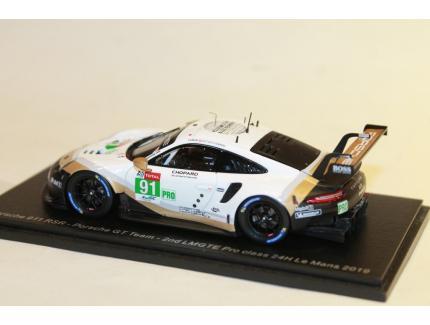 PORSCHE 911 RSR N°91 GT TEAM 2ND LM 2019 SPARK 1/43°
