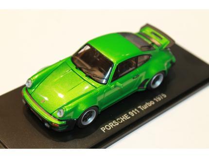 PORSCHE 911 TURBO VERT 1975 KYOSHO 1/43°