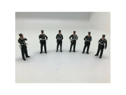 6 FIGURINES AGENTS D'INTERVENTION 1960/1970 PERFEX 1/43