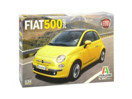 FIAT 500 JAUNE 2007 ITALERI 1/24°