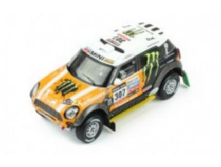 MINI COUNTRYMAN ALL4 N°307 3è DAKAR 2013 IXO 1/43°