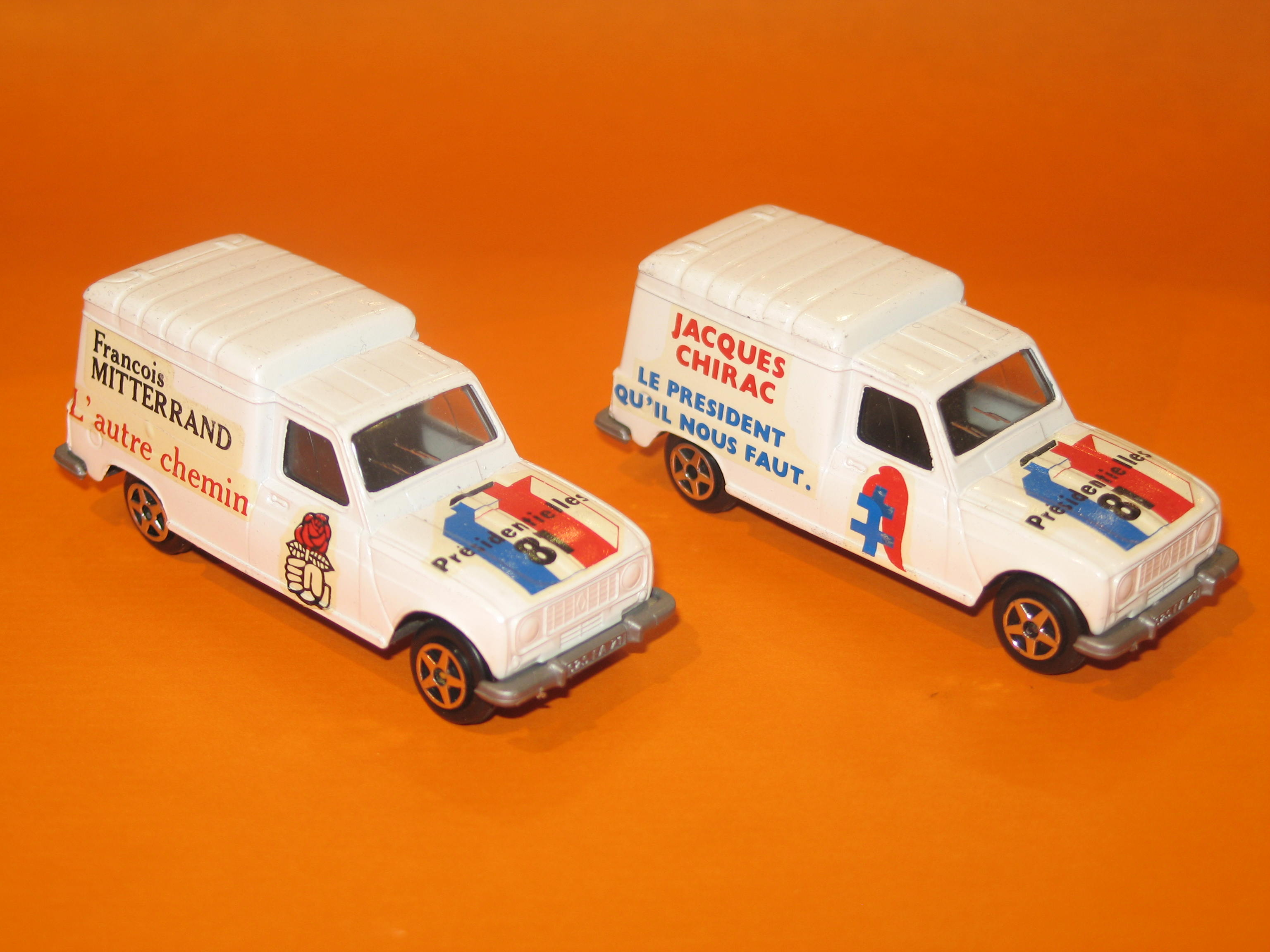 DUO RENAULT 4L F PRESIDENTIELLES 1981 CHIRAC- MITTERRAND NOREV 1/43°