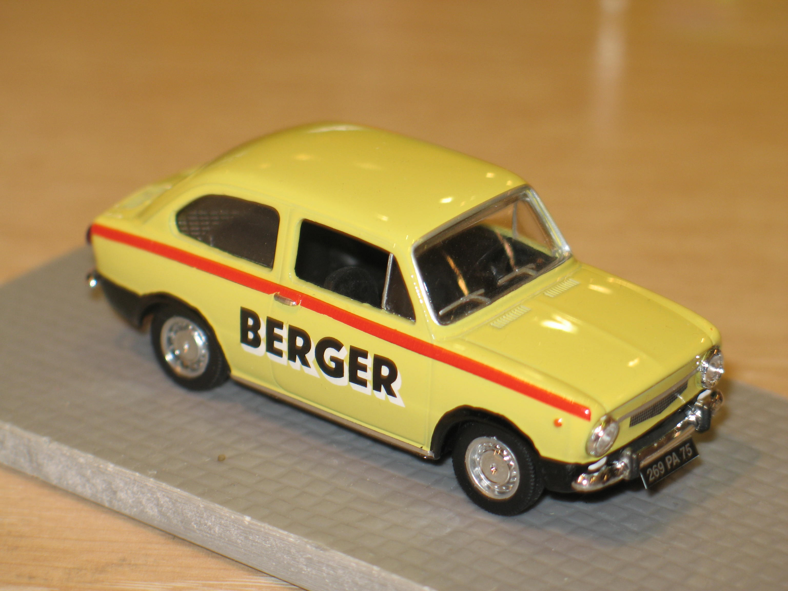 FIAT 850 1965 BERGER LABEL43 1/43°
