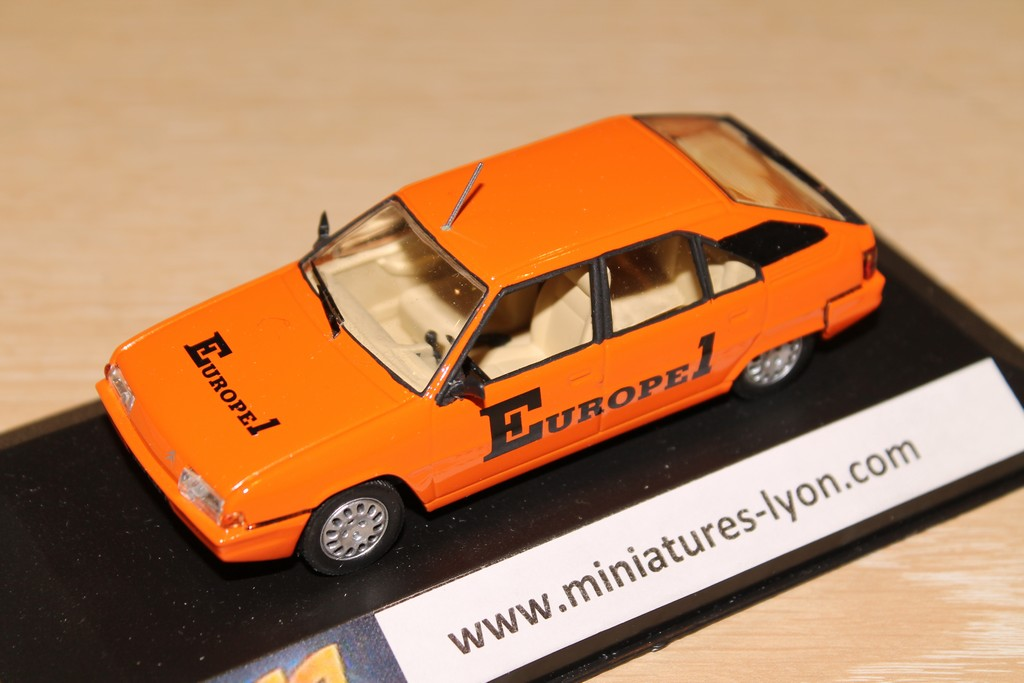 CITROEN BX EUROPE 1 1985 LABEL 1/43°