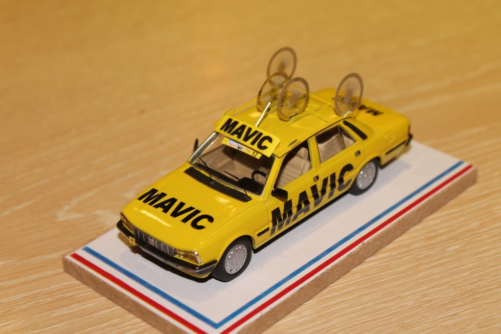 PEUGEOT 505 MAVIC TDF 1984 LABEL 43 1/43°