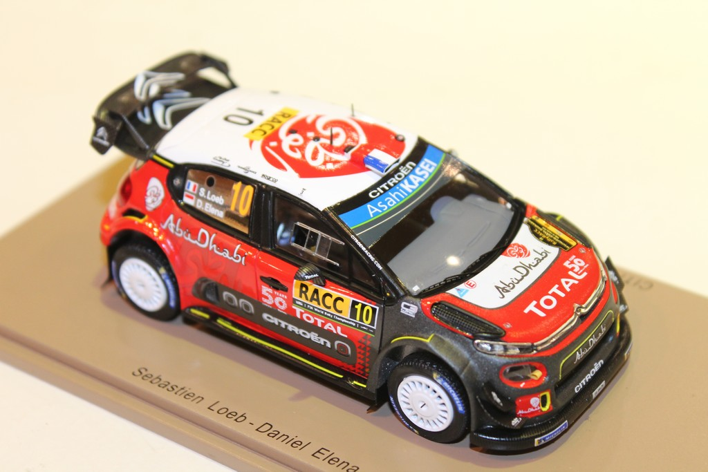 Spark 1:43 Loeb // Elena Citroen C3 WRC S5973 Winner Rally Catalunya 2018