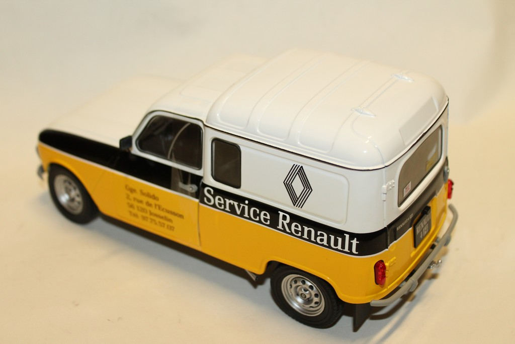 "RENAULT 4L F4 ""SERVICE RENAULT"" 1974 SOLIDO 1/18°"