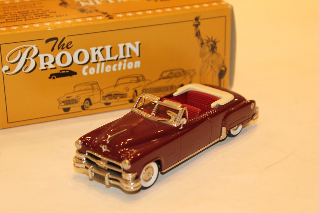 CHRYSLER IMPERIAL CONVERTIBLE BORDEAUX 1951 BROOKLIN 1/43°