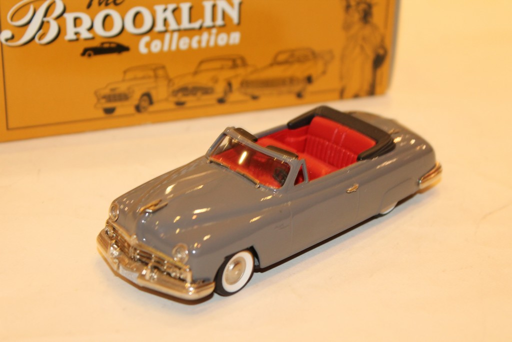 LINCOLN COSMOPOLITAN CONVERTIBLE GRISE 1949 BROOKLIN 1/43°