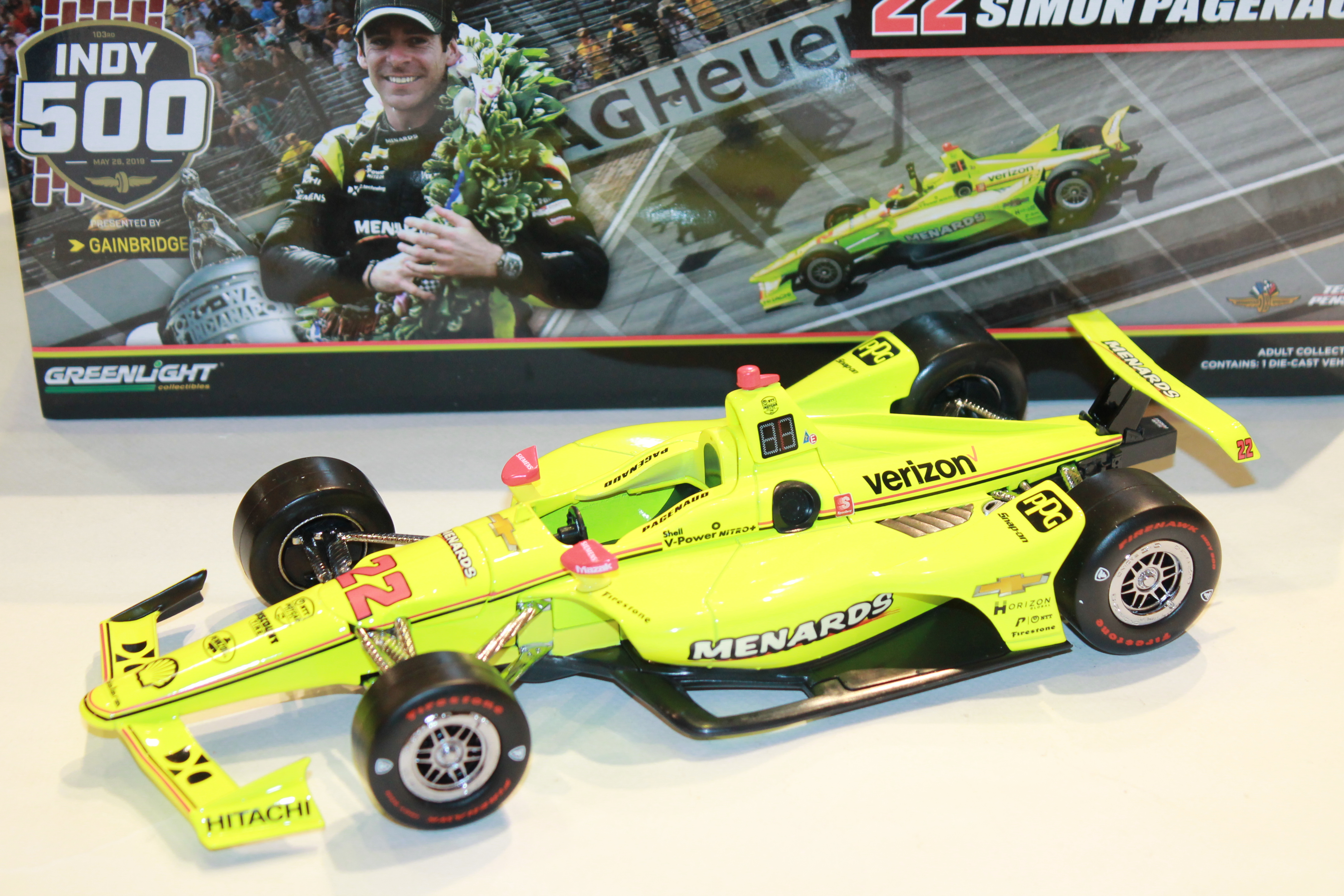 PENSKE N°22 PAENAUD VQ INDY 500 2019 GREENLIGHT 1/18°