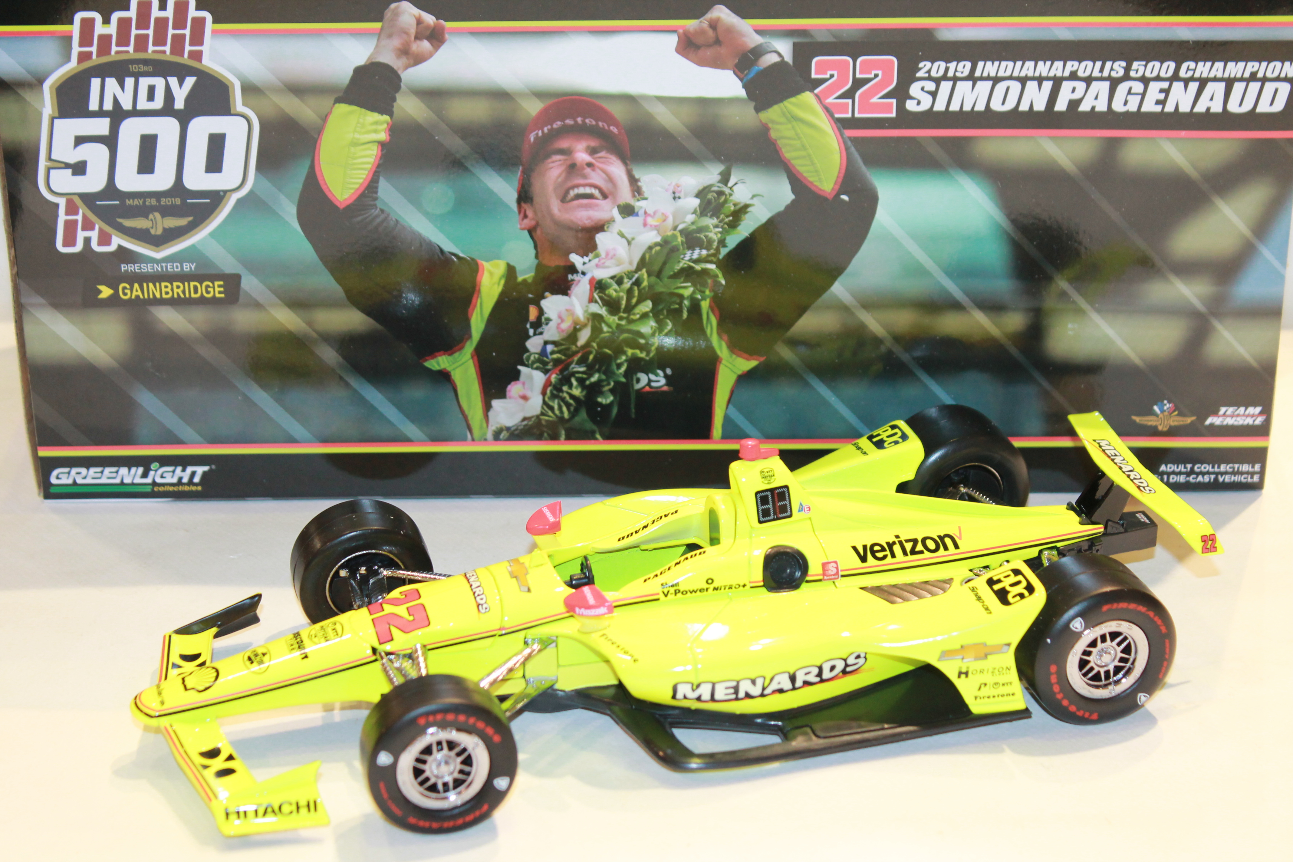 PENSKE N°22 PAGENAUD VQ INDY 500 2019 GREENLIGHT 1/18°